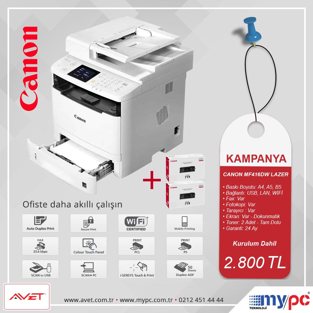 Canon MF416DW Kampanya