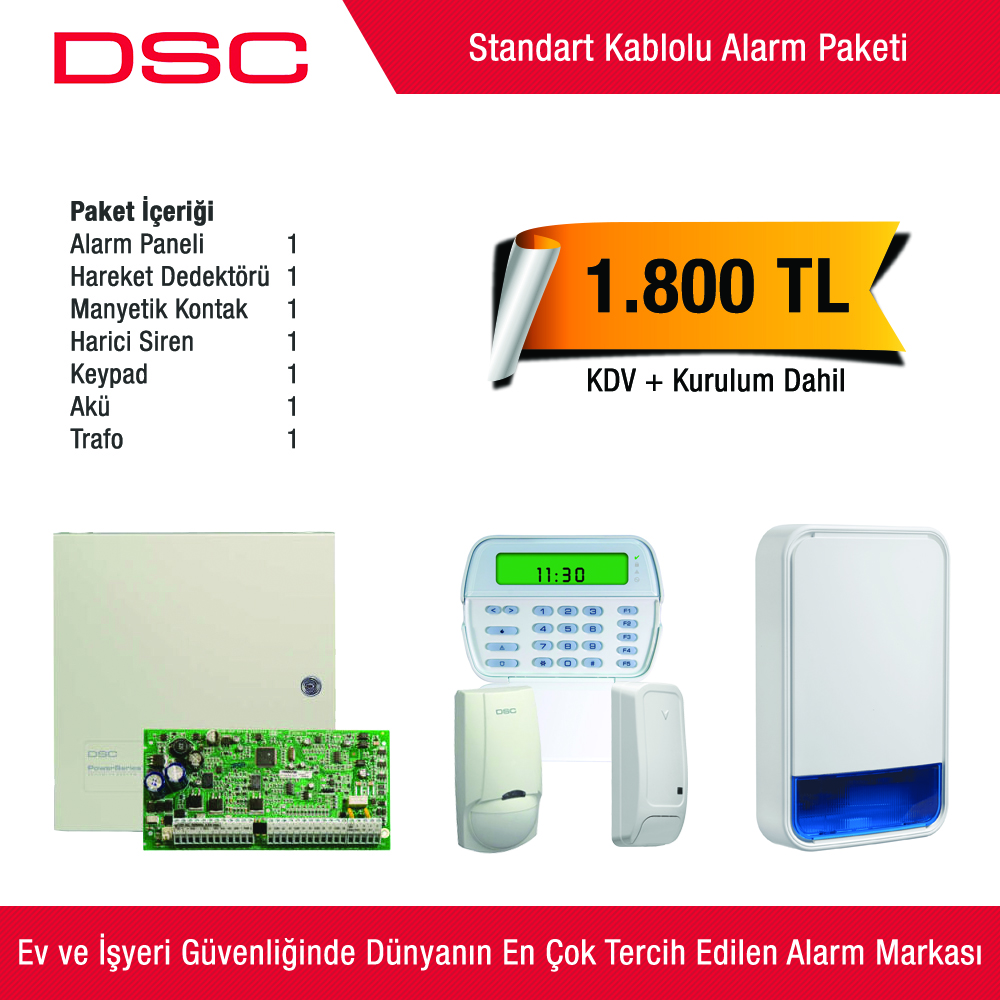 Dsc Standart Kablolu Alarm Paketi