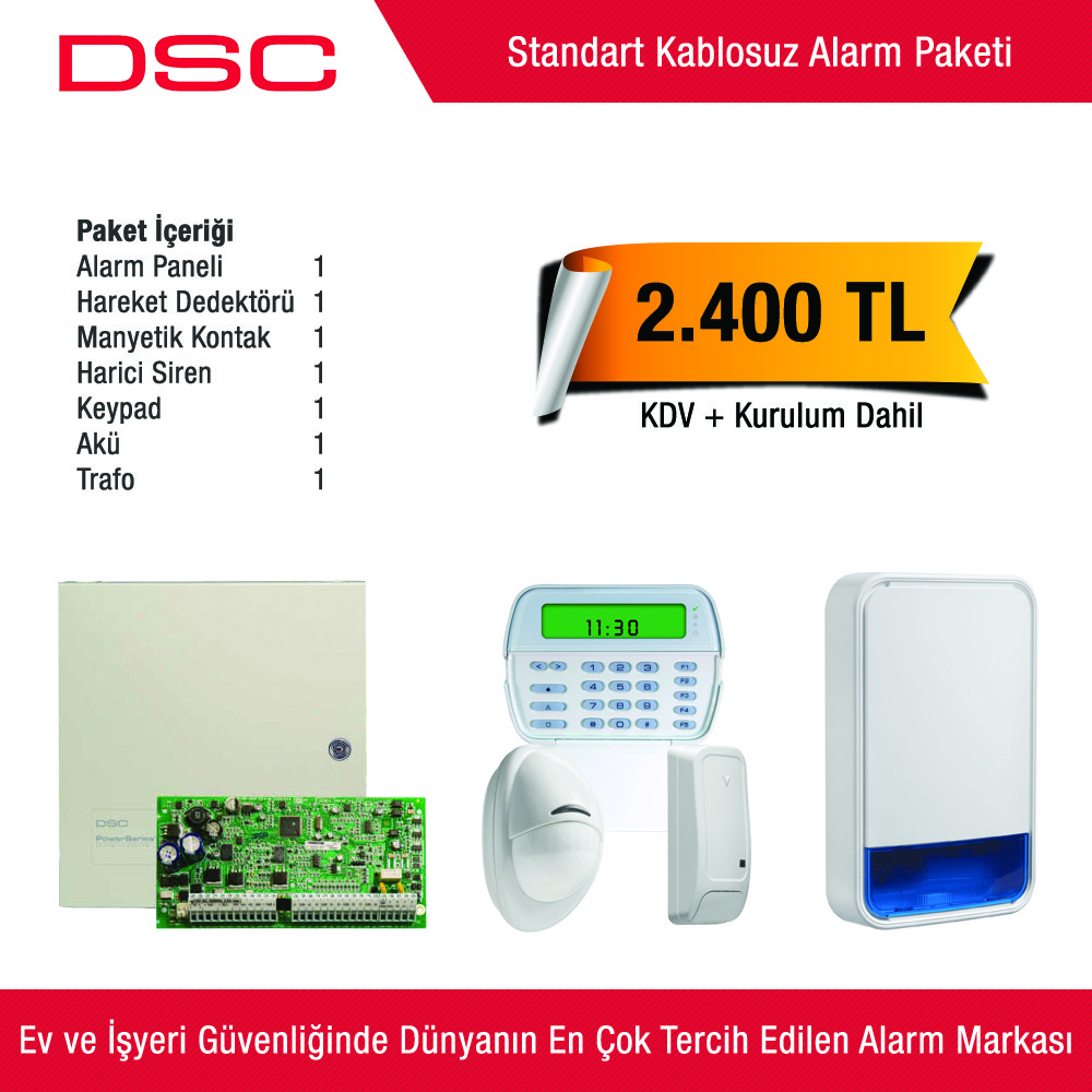 Dsc Standart Kablosuz Alarm Paketi
